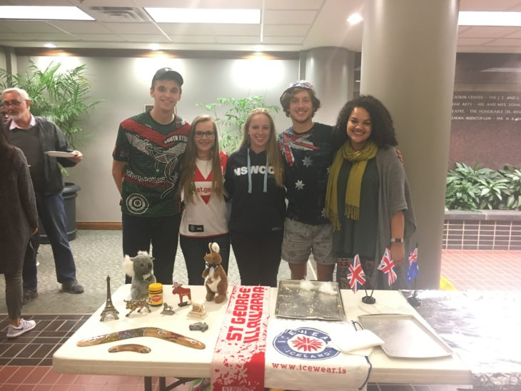 Zach Arnold, Madison Arnold, Felix Wittenberg, Anthony Wittenberg and Joanna Stewart at the recent Multicultural Night. Submitted Photo.
