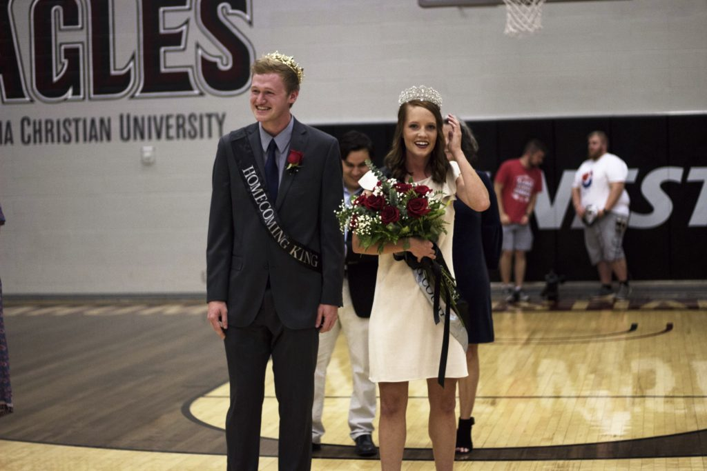 Seniors Jeff Gruenbaum and Madeline Roseke were named this year's homecoming king and queen.