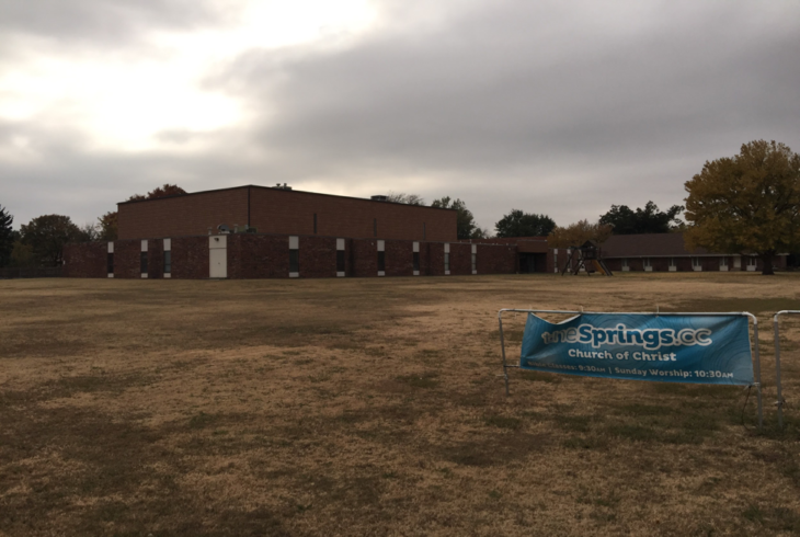 Gymnasium of the Northside Christian Church, current meeting location of the Springs Church of Christ. The Springs plans to move out of the gym and into a permanent location by mid-2018.